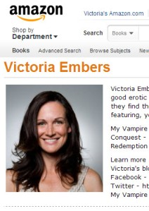 Victoria's Amazon Author page